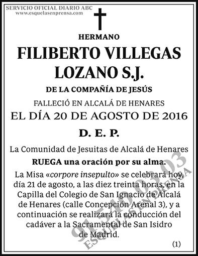 Filiberto Villegas Lozano